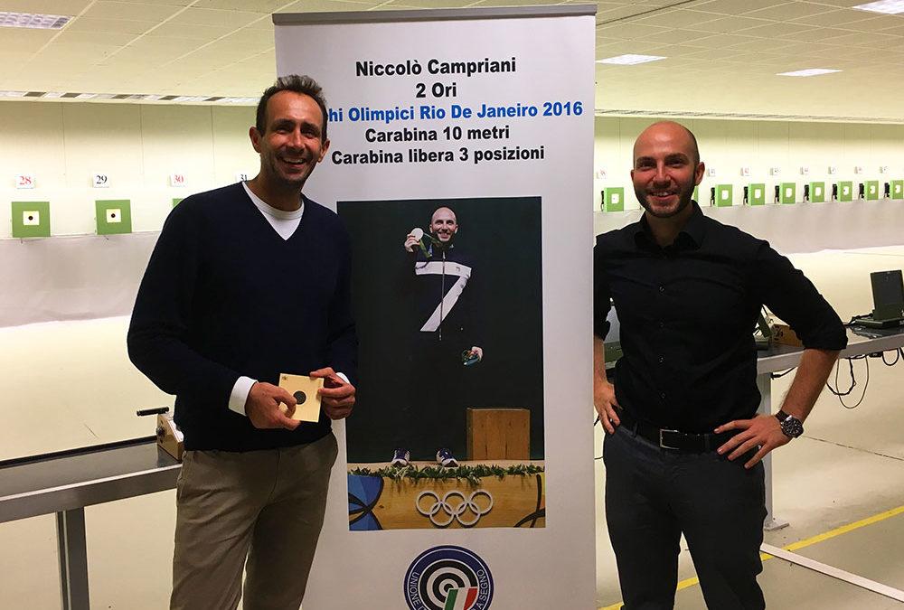 Niccolo Campriani  (Oro Olimpico Tiro a segno)