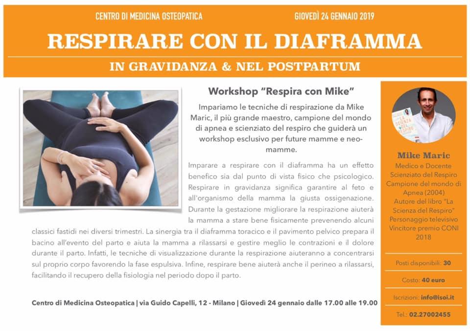Respirazione e Gravidanza - Workshop con Mike Maric